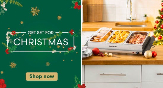 Get set for christmas and shop now