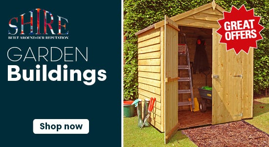 Great Savings on Shire Garden Buildings!