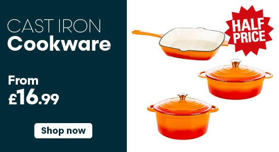 Cast Iron Cookware from £16.99