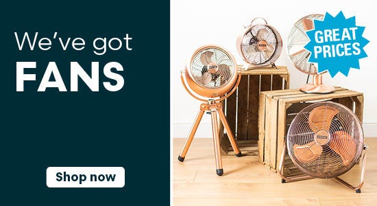 We've got fans & air conditioners!