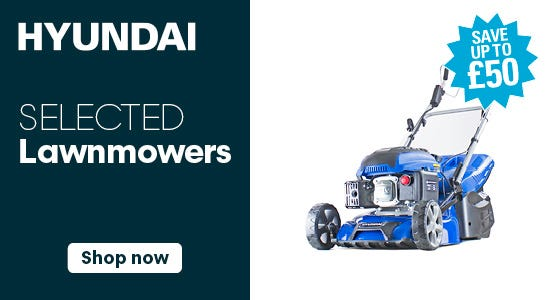 Save up to £50 on selected hyundai lawnmowers