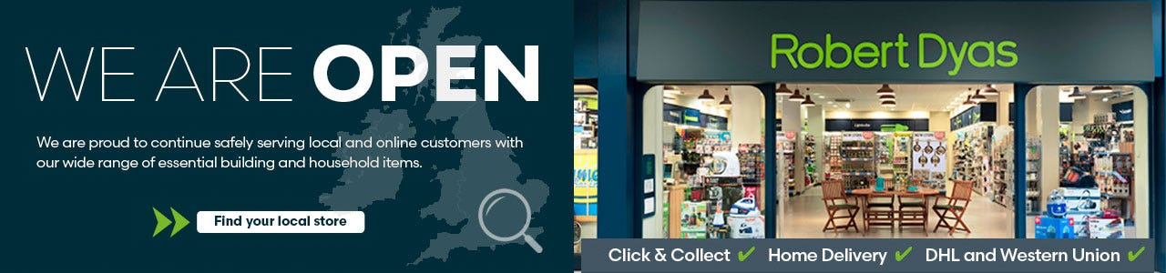 Our stores are open!