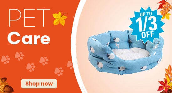 Save on pet care products!