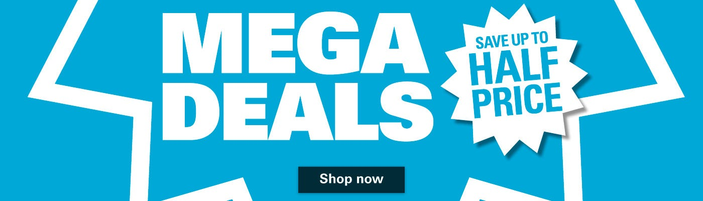 Save Up To Half Price On Our Mega Deals!