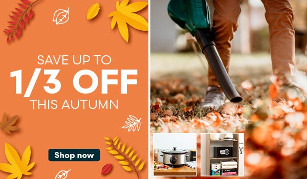 Save up to a third off this autumn