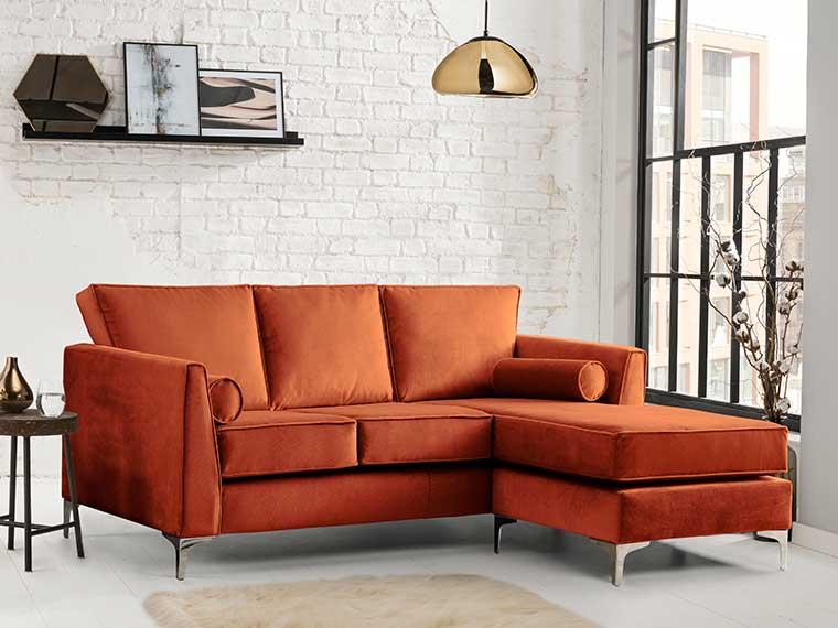 Indoor Furniture - orange sofa