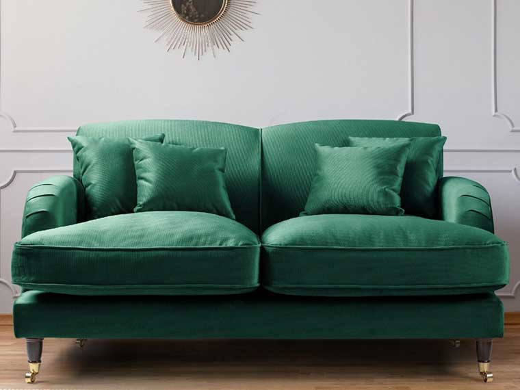 Indoor Furniture - green sofa