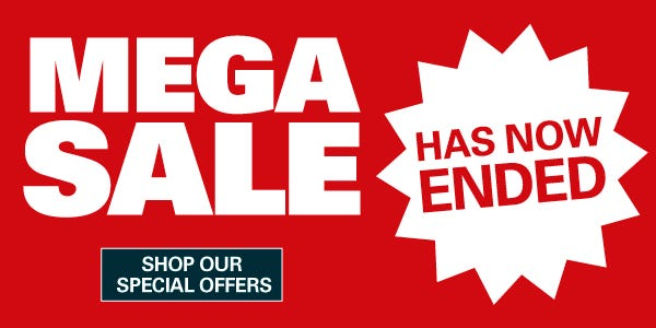 Mega Sale Has Now Ended