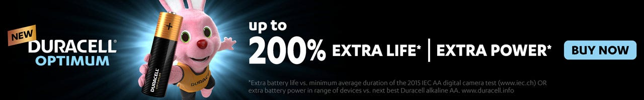 Shop Duracell Optimum batteries here