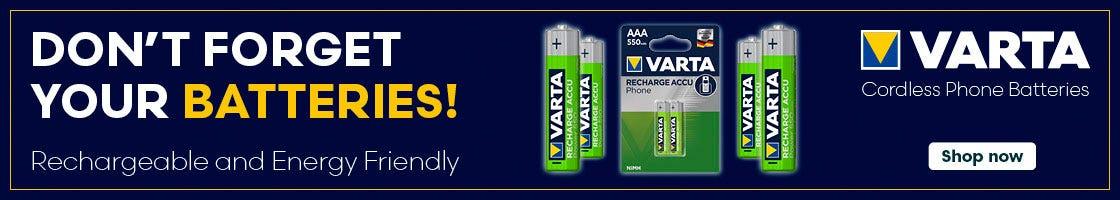 Shop cordless phone batteries here