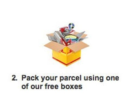Pack your parcel using one of our free boxes