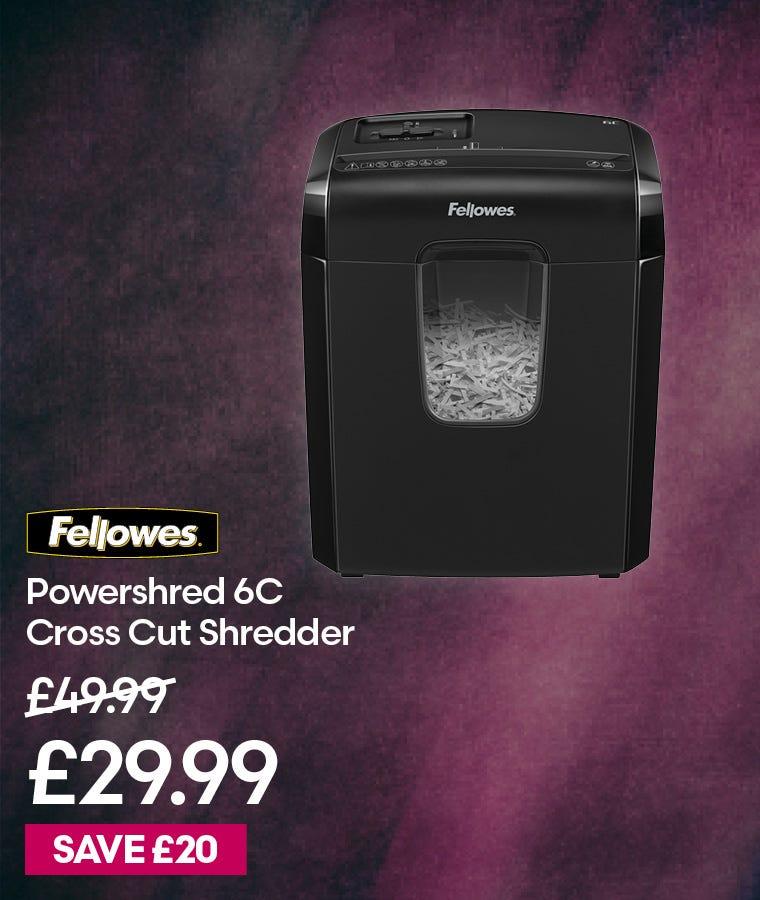 Fellowes Powershred 6C Cross Cut Shredder