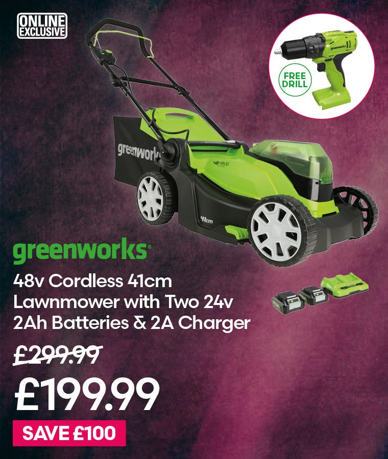 Greenworks 48v Cordless 41cm Lawnmower