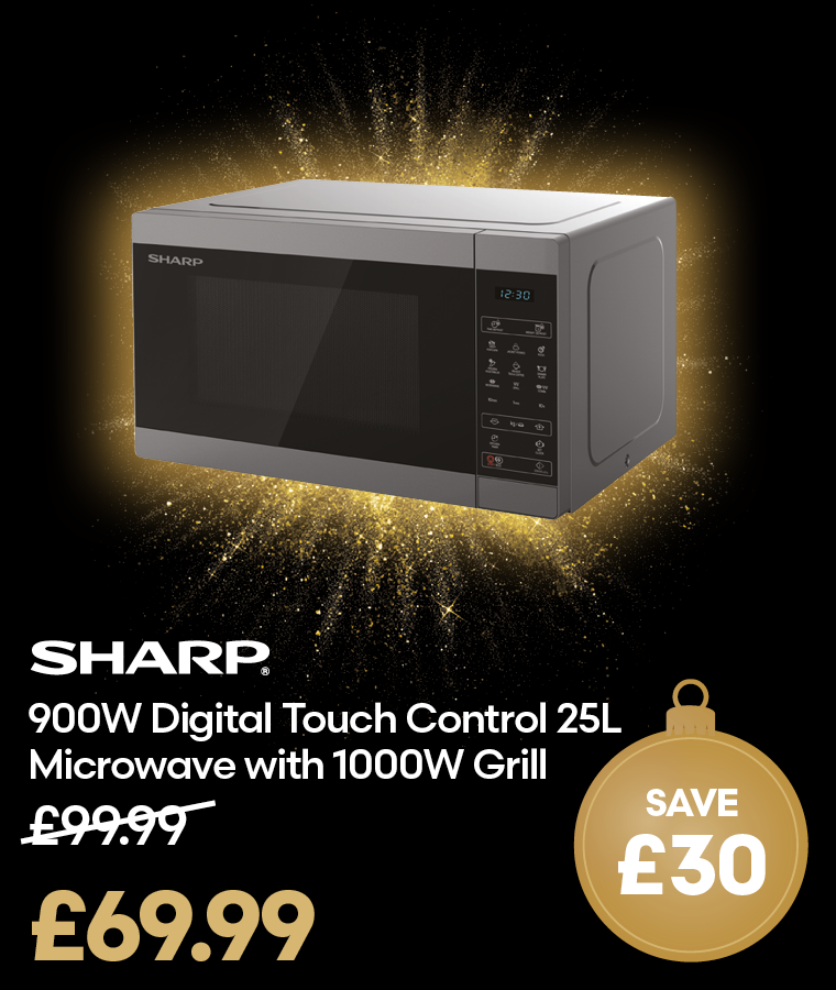 Sharp Digital Touch Control Microwave with Grill Black Friday Deal