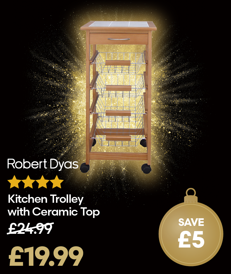 Robert Dyas Kitchen Trolley with Ceramic Top Deal