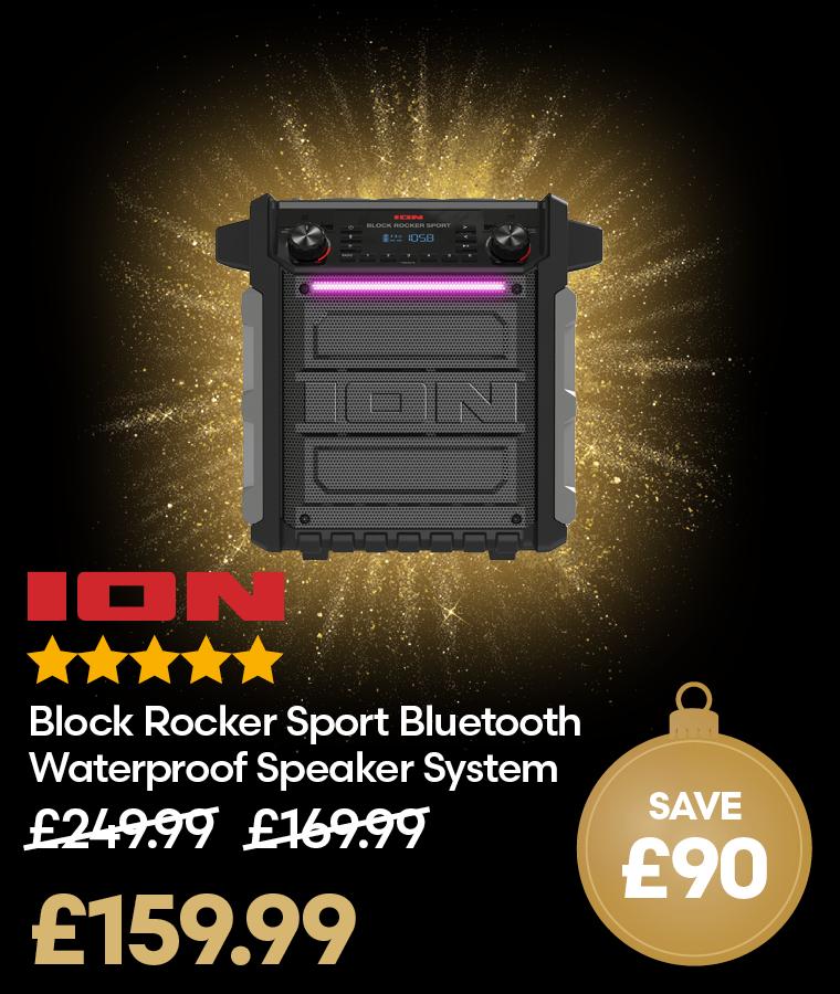 ION Block Rocker Sport Bluetooth Waterproof Speaker System Deal