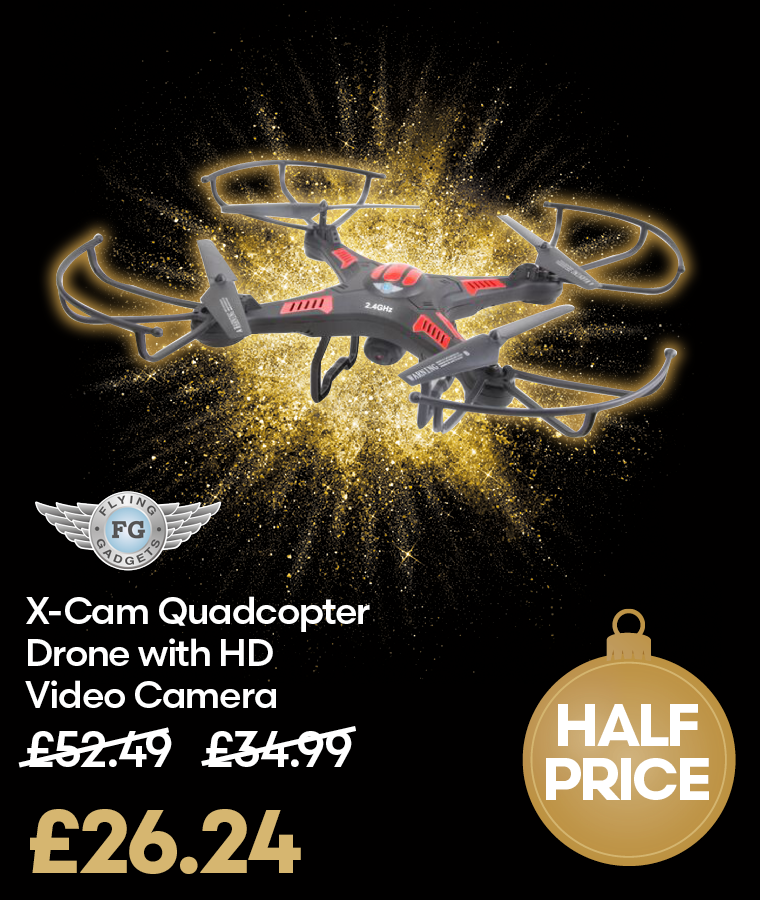 X-Cam Quadcopter Drone with HD Video Camera Black Friday Deal