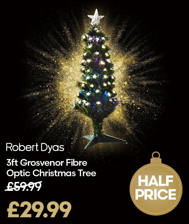 Robert Dyas Grosvenor Fibre Optic Tree Black Friday Deals