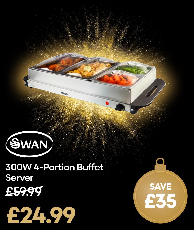 Swan 300W 4-Portion Buffet Server Black Friday Deal