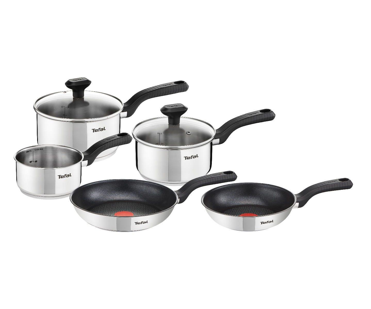 Tefal stainless steel pan set