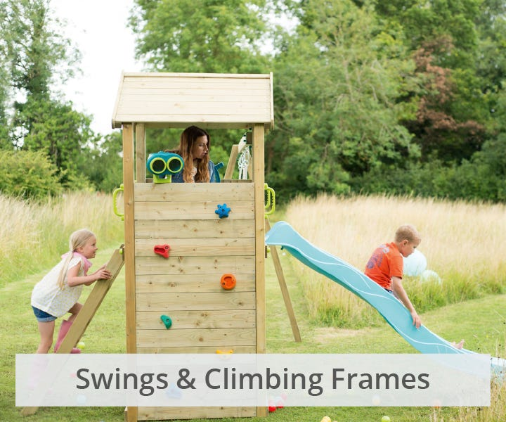 Plum swings and climbing frames
