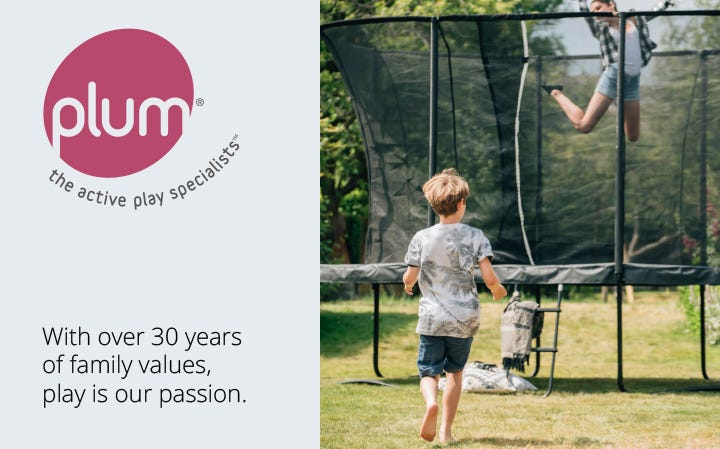 Outdoor play and trampolines from Plum