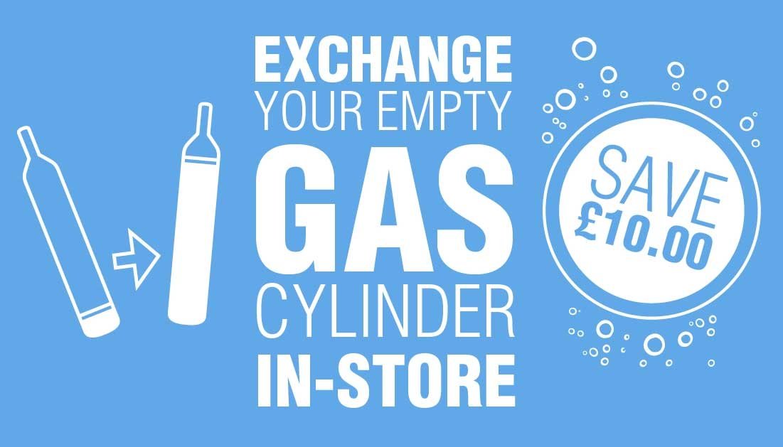 Exchange your SodaStream cylinders in store