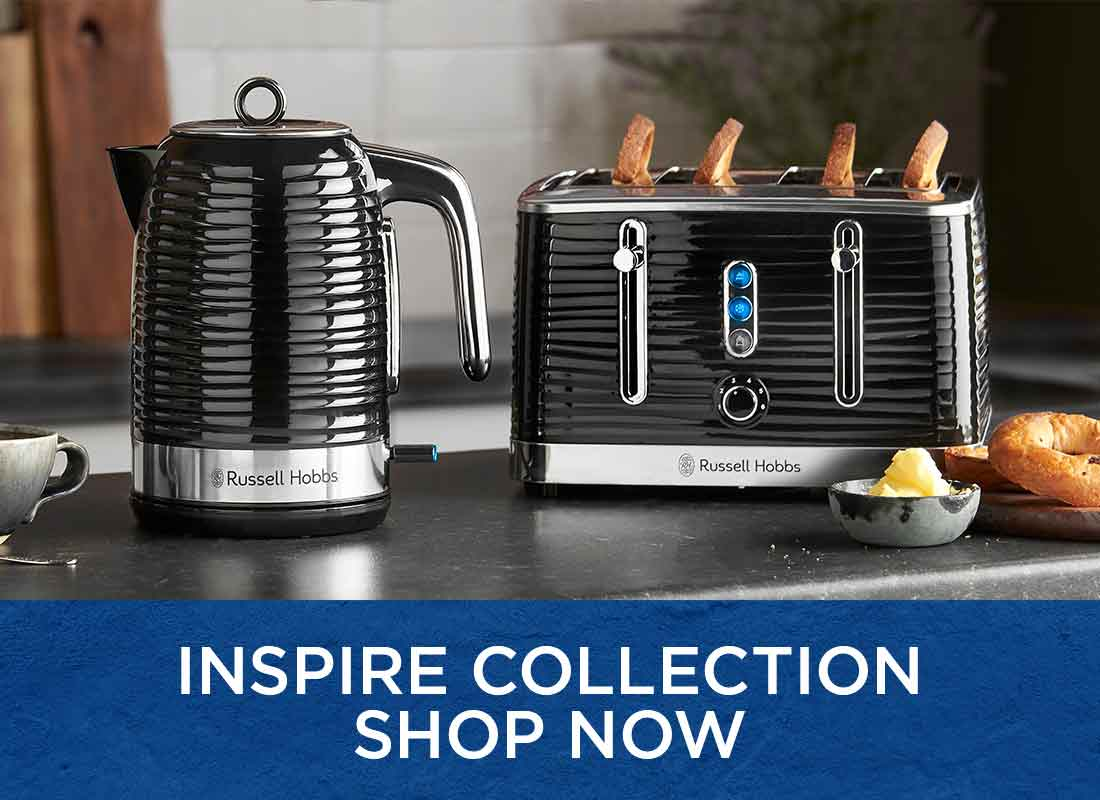 Russell Hobbs inspire collection kettle and toaster