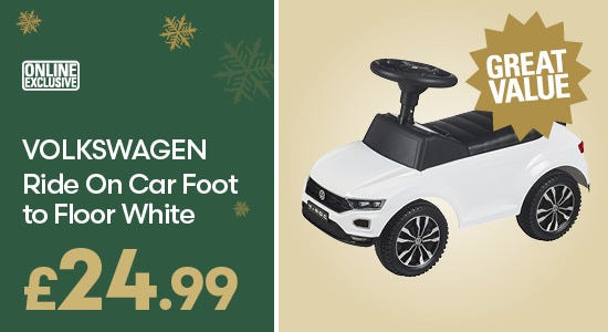 Gifts - Volkswagen Ride On Car Foot to Floor White