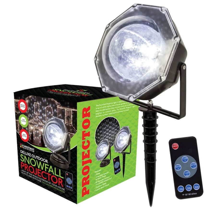 Christmas Workshop Deluxe Outdoor Snowfall Laser Light