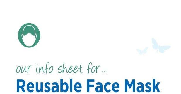 Reusable Face Mask Information