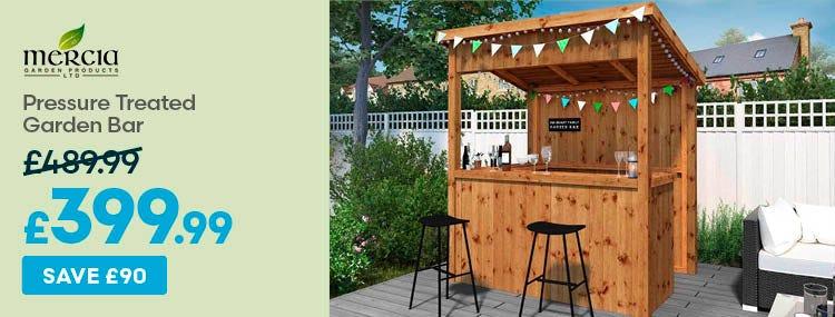 Save £90 on Mercia Pressure Treated Garden Bar