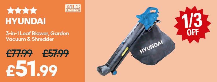 Save on Hyundai HYBV3000E 3000W 3-in-1 Leaf Blower