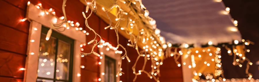 hang christmas lights gutters