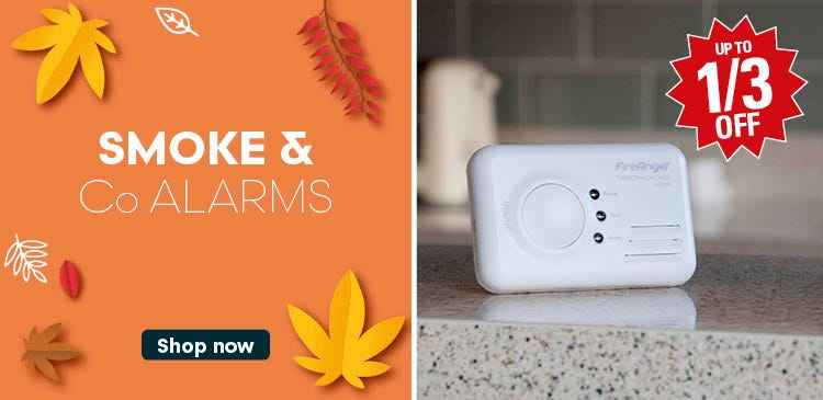 Save up to a third on Smoke & CO Alarms