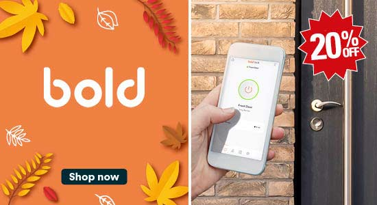 Save up to 20% off bold security