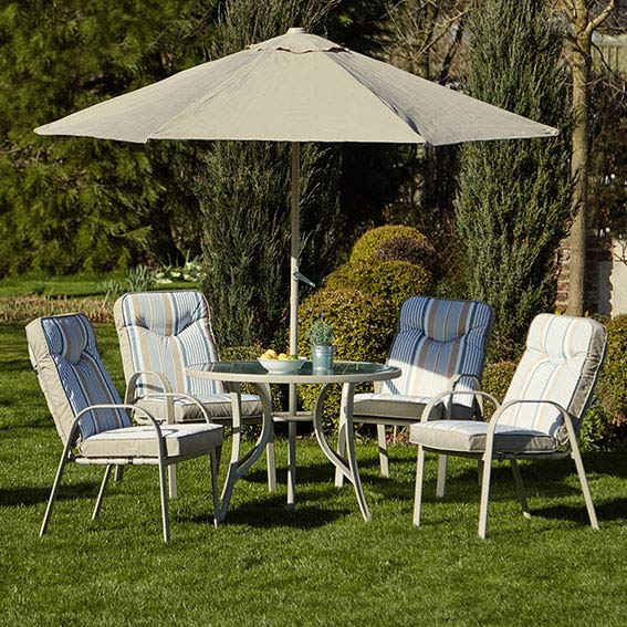 provence 4 seater metal furniture set
