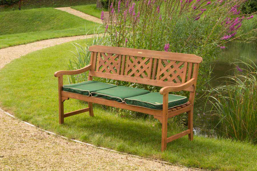 RD 3 seater wooden fence bench