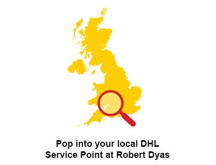 Pop into your local store to use the DHL service