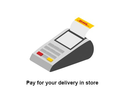 Pay for your delivery in store