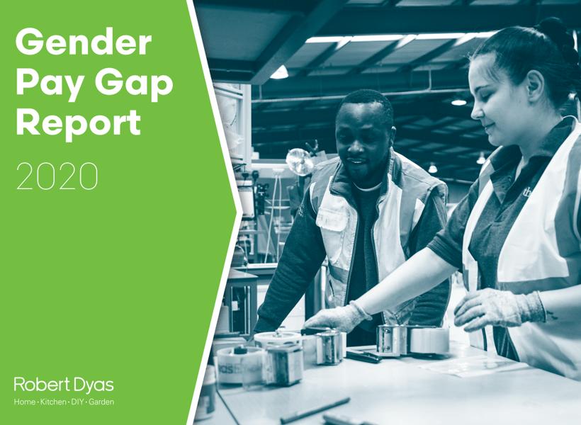 Gender Gap Pay Report Cover at Robert Dyas