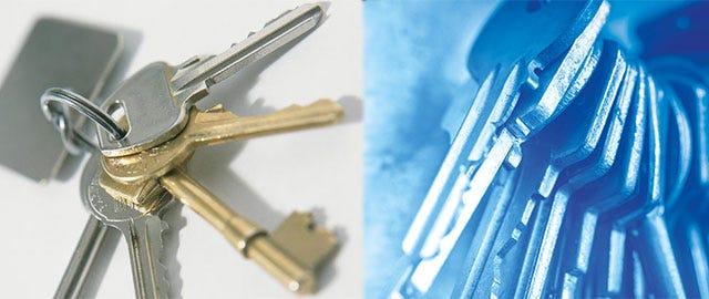 easy cutting of keys