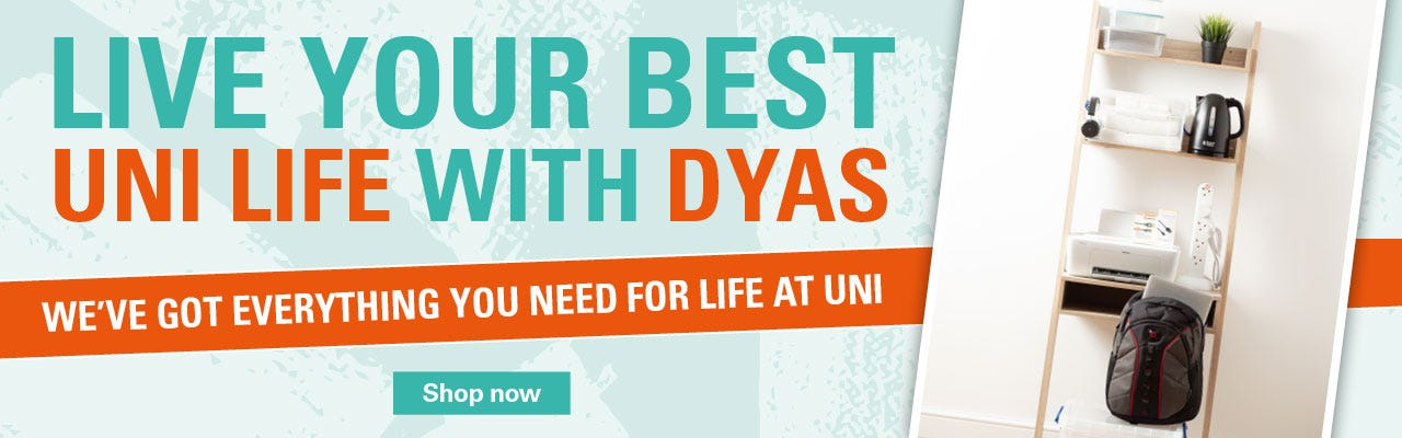 Back to university with Robert Dyas