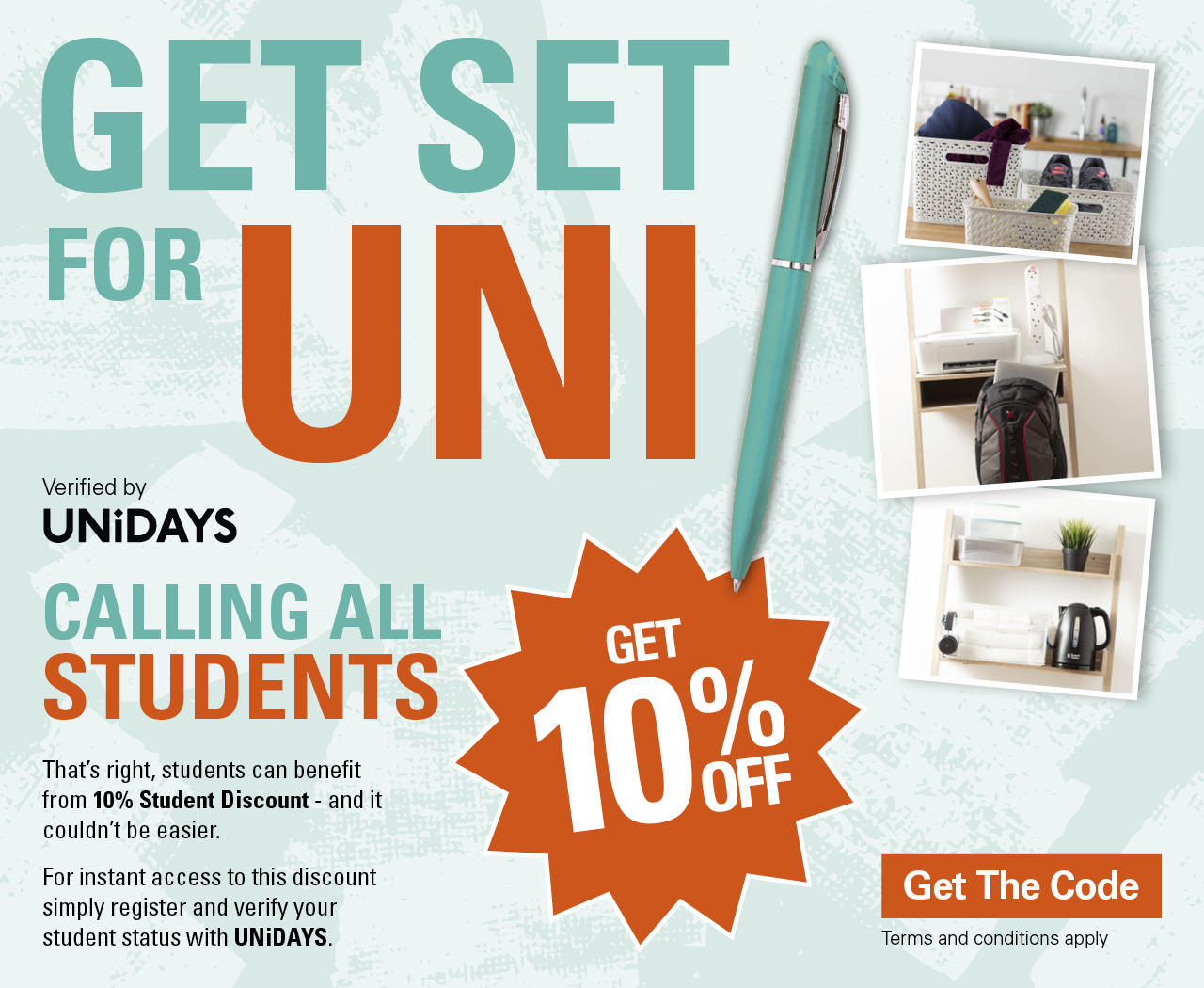 10% off for students at Robert Dyas